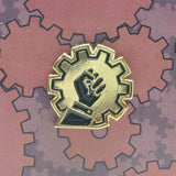Love Steampunk Hate Colonialism - Charity Enamel Pin Badge-Doctor Geof