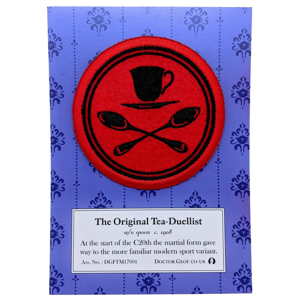 """Official Tea Duelling"" Embroidered Patch-Doctor Geof"