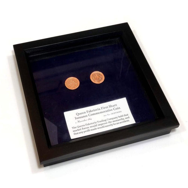 Queen Faketoria Commemorative Coin Display-Doctor Geof
