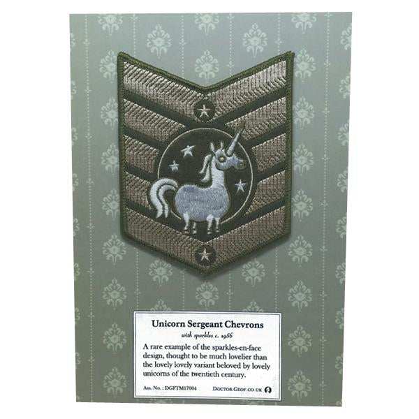 """Unicorn Sergeant"" Large Chevron Patch-Doctor Geof"