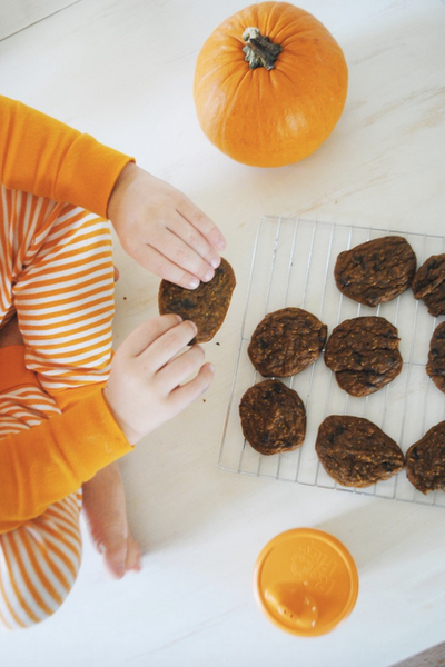 Healthy Pumpkin Chocolate Cookies