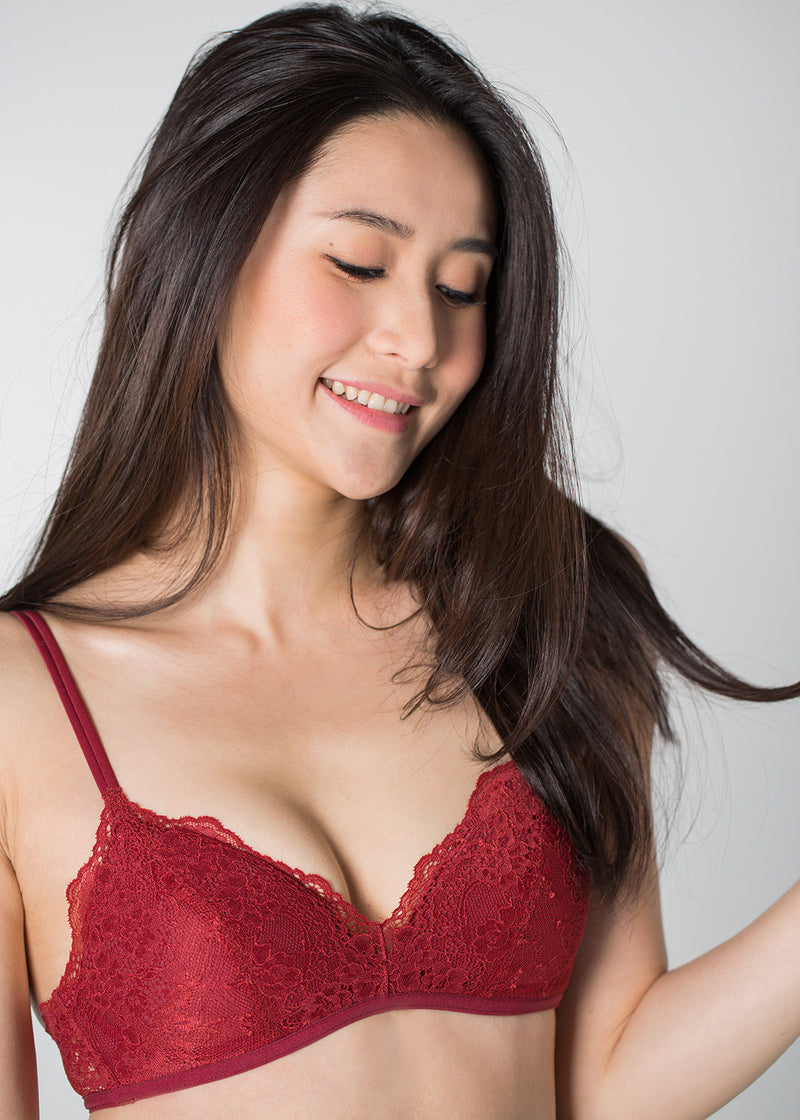 Adelina Non-Wired Bra in Red