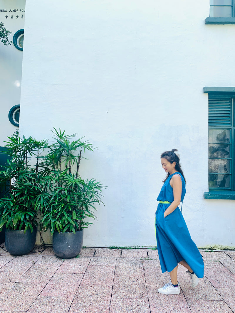 Indigo Sleeveless Long Dress