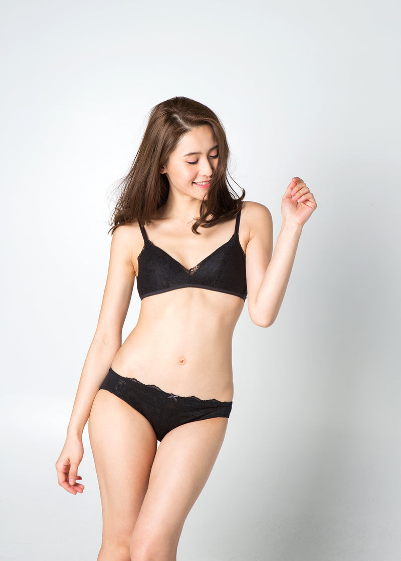 Adelina Non-Wired Bra in Black