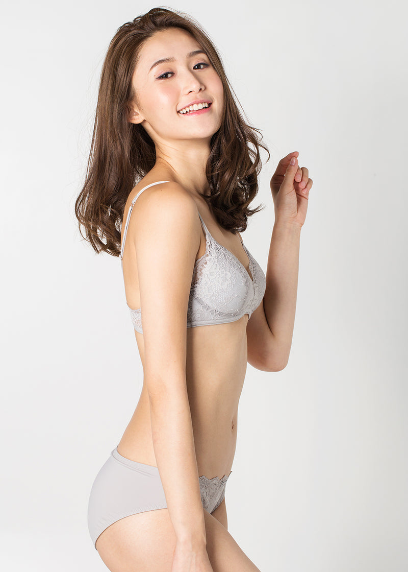 Adelina Non-Wired Bra 17 A/W Silver Grey in SET