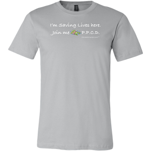"Parents Preventing Childhood Drowning ""I'm Saving Lives. Join Me"" - White Print Shirt"