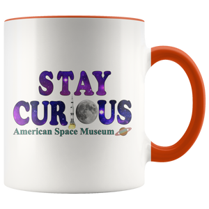 American Space Museum Stay Curious - Accent Mug