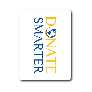 Donate Smarter Sticker