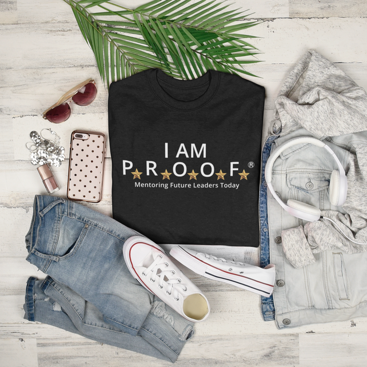 I AM PROOF White Print Shirt