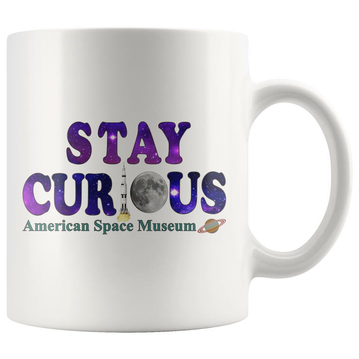 American Space Museum Stay Curious - 11oz Mug