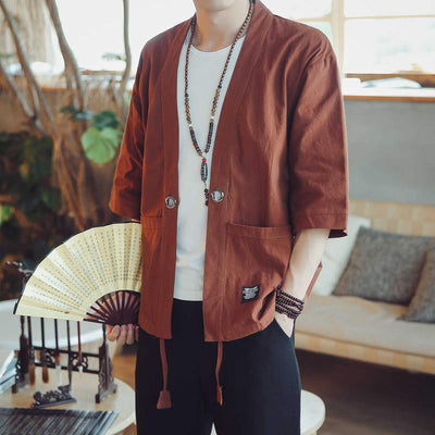Men's Summer Cardigan (Cotton & Linen)