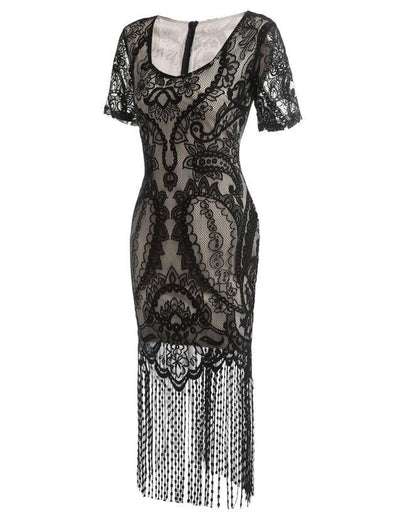 Black Lace Flapper Dress