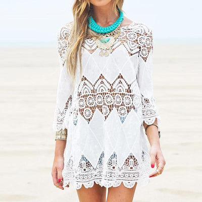 Lace Beach Mini Dress