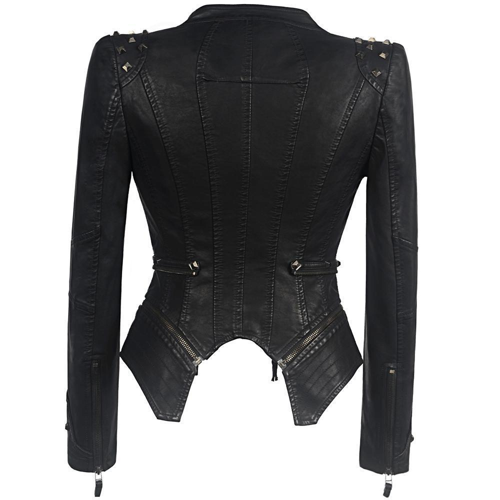 30c5aa7ba9 Women s Gothic Leather Jacket - HommyShop