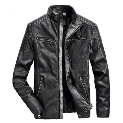 Men's Leather Jacket - Windbreaker