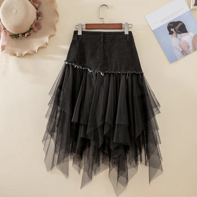 Women's High Waist Slim Denim Skirt