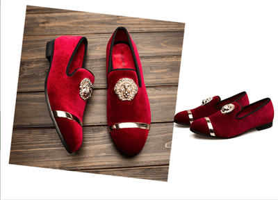 Luxury men's velvet loafers