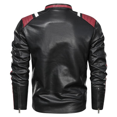 Men's Leather Stripe Jacket