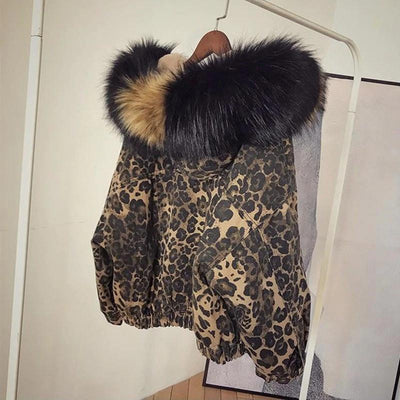 Women's Leopard Denim Jacket