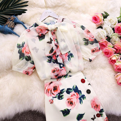 HommyShop Vintage Floral Dress