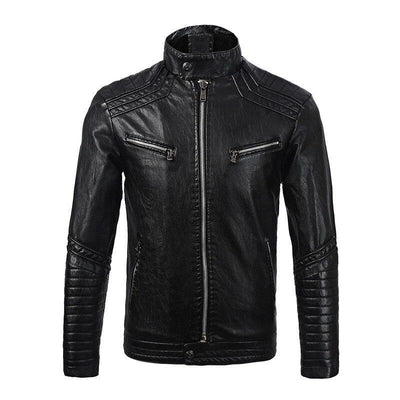 Men's Leather Fleece Jacket