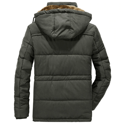 Premium Men's Winter Jacket (Windproof, Warm Cotton)