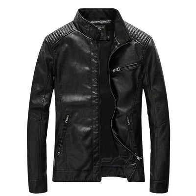 Men's Windproof Leather Jacket