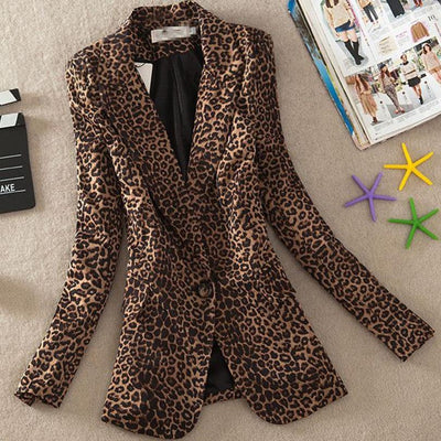 Women's Leopard Coat
