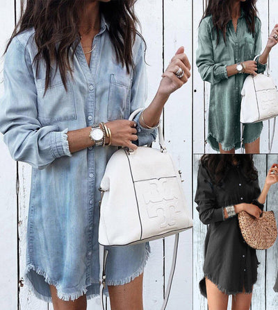 Women's Casual Denim Dress