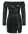 Elegant Women's Leather Dress