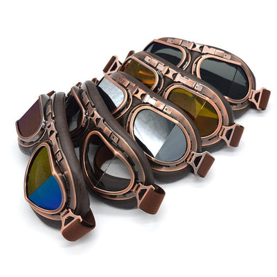 Vintage Steampunk Motorcycle Googles