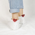 Wheatfield Knitwear Socks Knitted Heart Socks for Valentine's Day, Gift for Her, Galentine's Gift