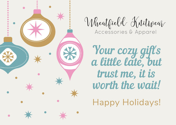 Wheatfield Knitwear Totes & Prints Printable Belated Holiday Card