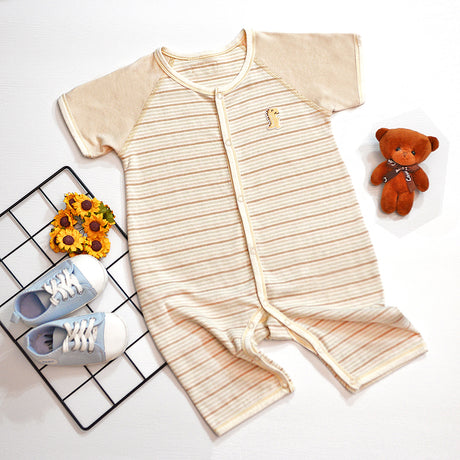 PREMIUM Organic Cotton Baby Romper Short Sleeve & Pants – GoodDino Series by FirstDino – MIXED COLORS