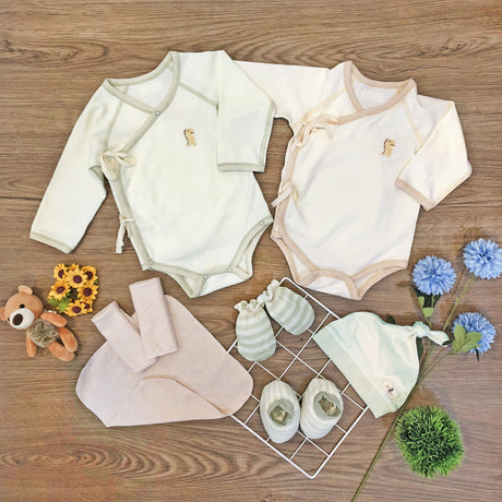 FIRSTDINO KIMONO New Born Package, Long Sleeve Onesie Rompers – GoodDino Series by FirstDino ( 0 - 6mth)