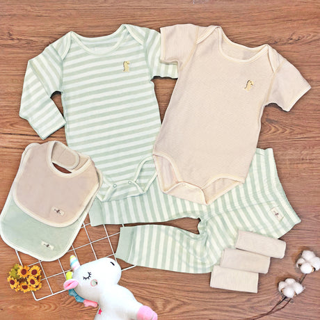 FIRSTDINO LINELICIOUS 6 MTH+ Package, Long Sleeve Onesie Rompers – GoodDino Series by FirstDino (0 - 6mth)