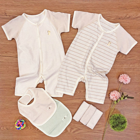 FIRSTDINO BODYSUITS 6 MTH+ Package, PREMIUM Baby Romper Short Sleeve – GoodDino Series by FirstDino (6 - 24mth)