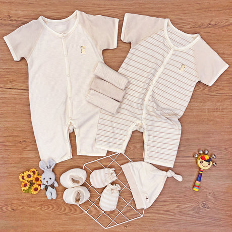 FIRSTDINO BODYSUITS New Born Package, PREMIUM Baby Romper Short Sleeve – GoodDino Series by FirstDino (available for 0 - 6mth)