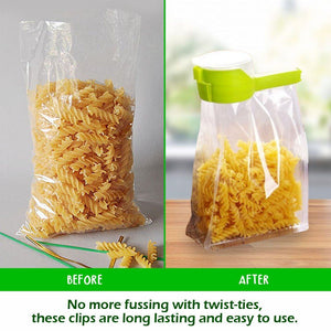 Seal Pour Food Storage Bag Clip - 2pcs Set