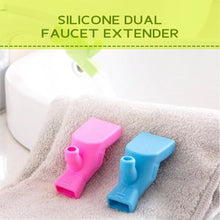 Load image into Gallery viewer, Silicone Dual Faucet Extender