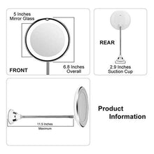 Load image into Gallery viewer, Flexible Illuminated Magnifying Makeup Mirror