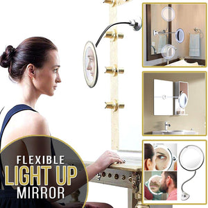 Flexible Illuminated Magnifying Makeup Mirror