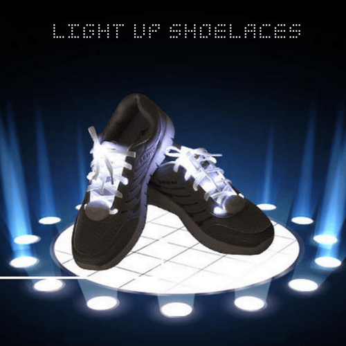 Flashing LED Multicolor Party Shoelaces
