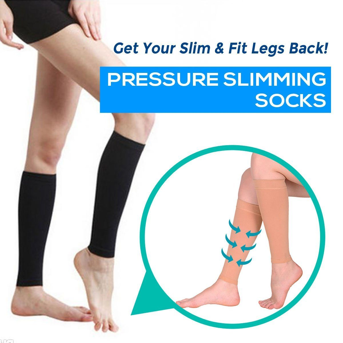 e85cb1fecb Load image into Gallery viewer, Women Slimming Leg & Thigh Compression  ...