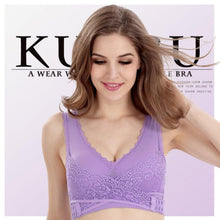 Load image into Gallery viewer, Front Cross Adjustable Side Buckle Lace Bra