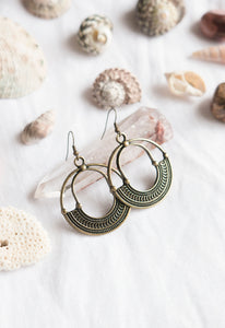 Antique Brass Earrings #22