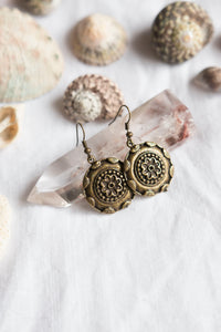 Antique Brass Earrings #28
