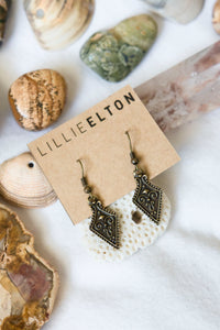 Antique Brass Earrings #01