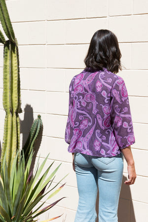 Vintage Cropped Paisley Shirt