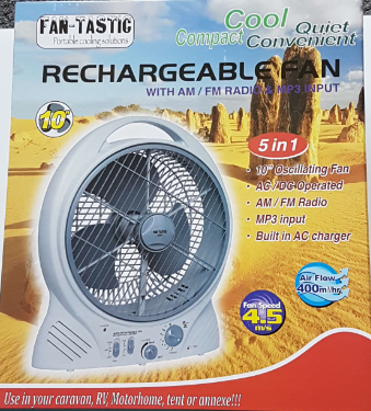 Fan-Tastic Rechargeable Fan